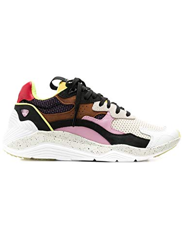 MCQ by Alexander McQueen Women's 544992R25635064 Multicolor Leather Sneakers
