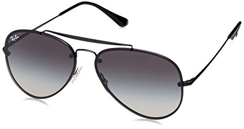 Ray-Ban 0rb3584n153/1161blaze Aviator Sunglasses, Demi Glos Black, 61 mm by Ray-Ban