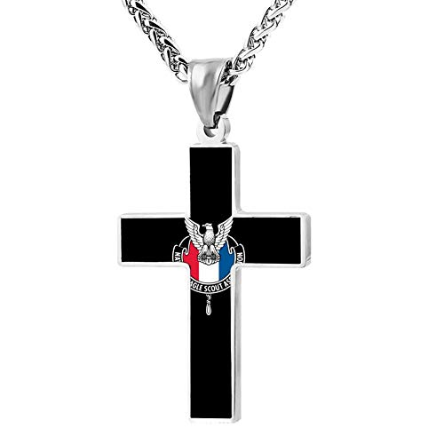 M100% 2018 National Eagle Scout Association Metal Religious Zinc Alloy Stainless Silver Steel Cross Necklace Holder Pearl Chain Urn Pendants