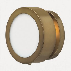 Hinkley 3650HB Transitional One Light Wall Sconce from Mercer collection in Brassfinish,