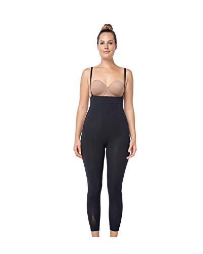 93f9270f19740 Leonisa Invisible Tummy Control Bodysuit Shapewear Leggings for Women with  Leg Compression Shorts