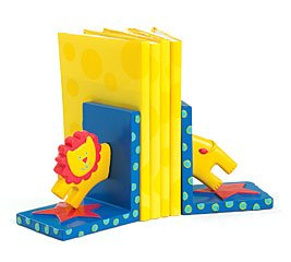 Circus Themed Bookends With Lion For Baby Nursery Or Toddler Room Decor 635728