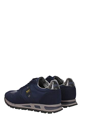 EU Sneakers 8FMUSTANG01TAS Camoscio Mustang Blauer Blue Uomo v1qTZvH