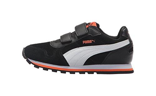 PUMA Unisex-Kids ST Runner SD Velcro Sneaker, Black White, 1
