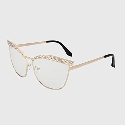 Frauen Katzenaugen Diamant C5 Brillen KLXEB Diseño Sonnenbrille Frauen C3 Vintage Sonnenbrille Kristall Luxus 5wgP0