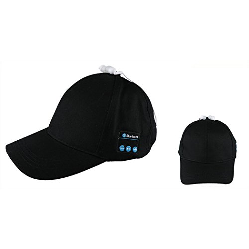 Bluetooth Hat Smart Baseball Cap with Mic Answer Phone Sun Hat with Adjustable Velcro Hands-Free Bluetooth in-Ear Headset Music Hat Sports Cap for Men Women (Black)