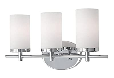 Radionic Hi Tech Yellin 3 Light Chrome Bath Light