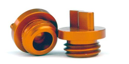 TM Designworks Oil Fill Plug Aluminum Orange for KTM All