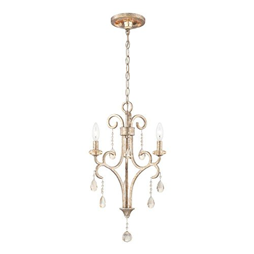 World Imports Lighting  23076 Caruso Collection 3-Light  Silver Chandelier (Caruso Collection)