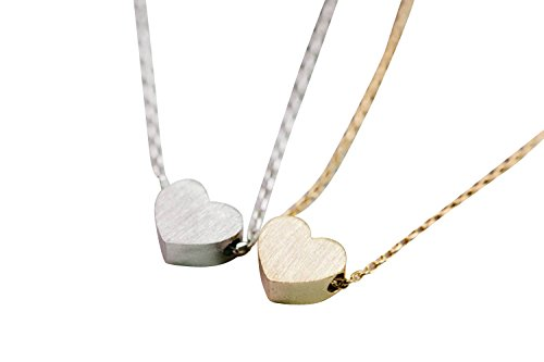 (Infinitine My Fat Sweet Love Baby Small Mini Big Best Solid Angel Hot Human Good Glowing Loving Kingdom Forever Candy Natural Heart Charm Pendant Necklace for Women Teens Girls Kids-iv)