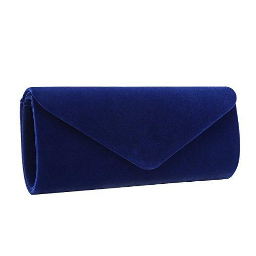 Charming Tailor Velvet Evening Bag Clutch Dress Purse for Wedding Women Formal Purses Bags (Royal Blue) (Blue Bag Royal Velvet)