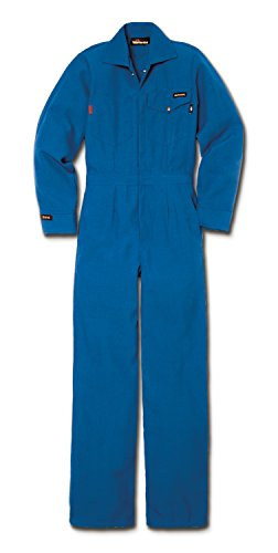 Workrite FR Flame Resistant 6 oz Nomex IIIA Women's Industrial Coverall, Snap Wrist, Small, Long Length, Royal Blue ()