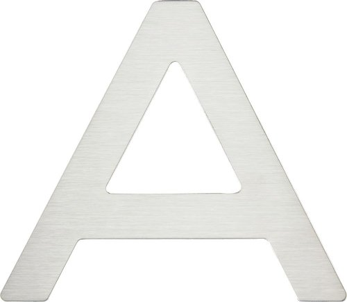 Atlas Homewares PGNA-SS 4-Inch Paragon House Letter-A, Stainless Steel