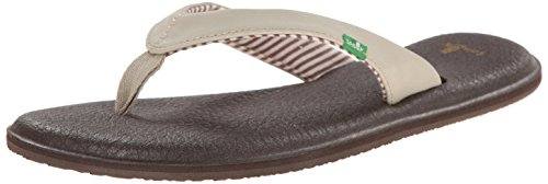 (Sanuk Women's Yoga Chakra Flip Flop, Light Natural, 6 M US)