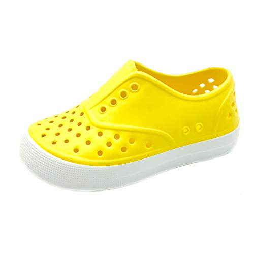 (Kids & Toddler - Boys & Girls Waterproof Breathable Slip On Sneaker | EVA Upper Material and Odor Resistant Footbed with Arch Support | Flexible and Lightweight Synthetic Shoe(2 M, YELLOW))