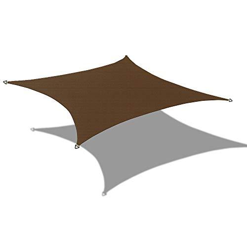 Alion Home HDPE Rectangle Sun Shade Sail Permeable Canopy Custom 20 x 24 , Dark Brown