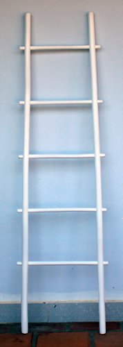 5' Bamboo Ladder Rack, white stain (Bamboo Ladder)