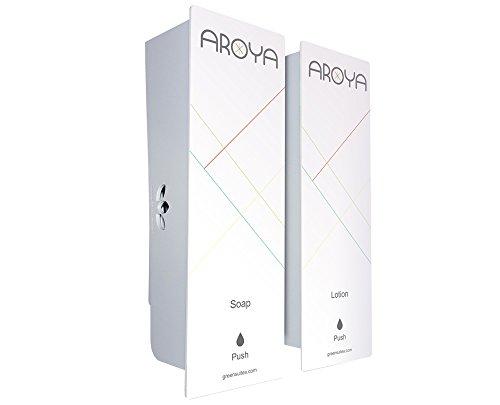 Amazon.com: ODYSSEY White Aroya Duo Soap & Lotion Dispenser: Home & Kitchen