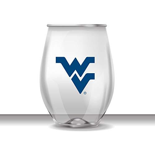 West Virginia Stemless Shatterproof Heavy Duty Wine or Beverage Glass