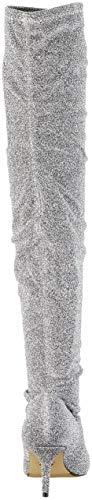 Silver du Buffalo Au Femme Elastic Starlight Bottes Dessus Argenté Genou Fabric 00 BgO4Rq