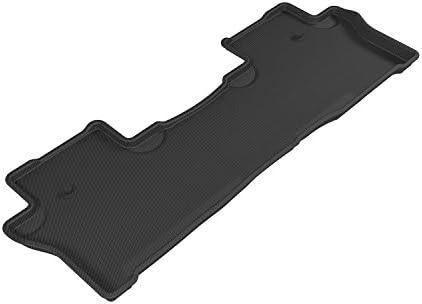 Black Kagu Rubber 3D MAXpider Second Row Custom Fit All-Weather Floor Mat for Select Honda Pilot Models