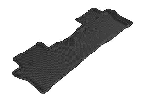 Honda Fit Floor - 3D MAXpider Second Row Custom Fit All-Weather Floor Mat for Select Honda Pilot Models - Kagu Rubber (Black)