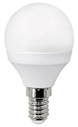 Wonderlamp W-B000005 - Bombilla LED alta potencia E14 esférica , 6 W , Luz