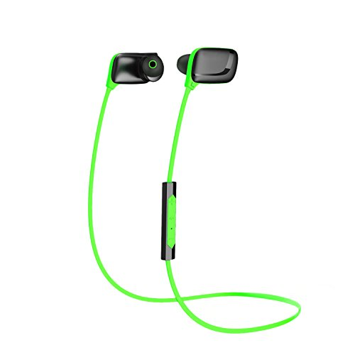 Bluetooth Headphone Rymemo Wireless Headset Headphones Sports Earphones Stereo Music Earbuds with 3 Sound Effect Option, Lightweight Panel,Intelligent Acoustic Control, Green