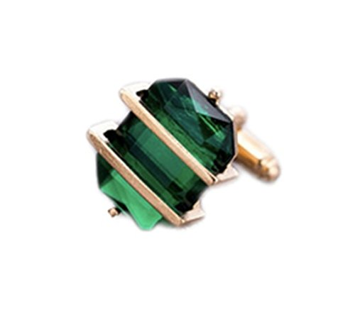 Gold Green Cufflinks - 1
