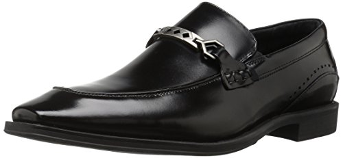Stacy Adams Mens Lindford Moc Toe Bit Slip-On Penny Loafer Black