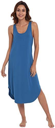 - NEIWAI Women's Sleep Dress Long Bamboo Nightgowns Sleepwear Prussian Blue S