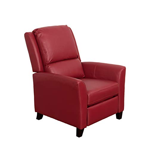 (CorLiving LZY-553-R Kate Leather Recliner Red)