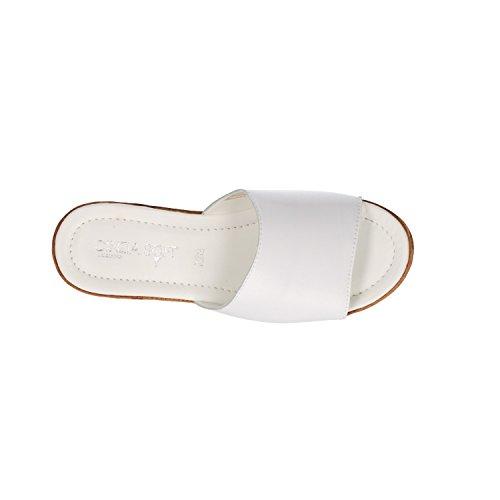 Ciabatte Sandali Soft 28 Zeppa Bianco Cinzia IAF2331 Donna qSOa5wxP