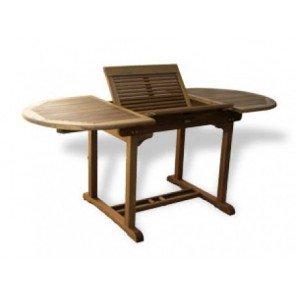 Tavolo ovale allungabile in legno di acacia: Amazon.it: Giardino e ...