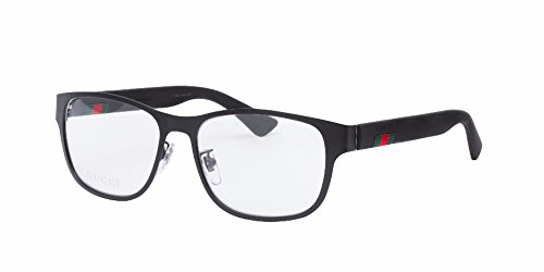 Gucci GG 0013O 001 Black Metal Square Eyeglasses - For Men Black Eyeglasses
