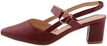 Madleen Dress Sandal for Women, Maroon, 182278MRN41