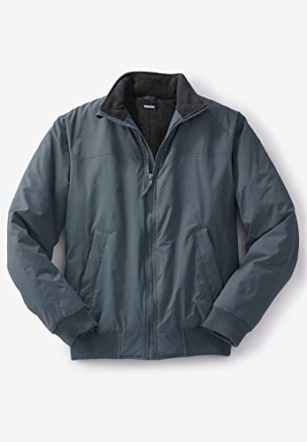 KingSize Mens Big & Tall Fleece-Lined Bomber Jacket