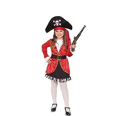 Fyasa fyasa706356-t00 Pirata Disfraz de niña, Rojo/Negro, pequeño ...