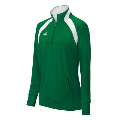 Mizuno Women's G3 Nine Collection 1/2 Zip Pullover, X-Small, Forest/White