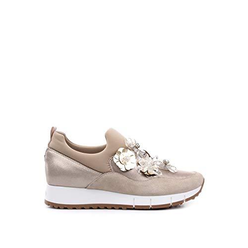 03 Gigi Lacci Jo B19021 Elastic Scarpe Senza Sock Liu Donna Beige Sneakers Tx034 azO8Xnqwx