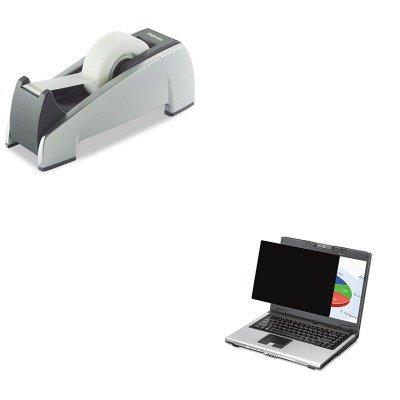KITFEL4801101FEL8032701 - Value Kit - Fellowes Blackout Privacy Filter for 19amp;quot; Widescreen LCD/Notebook (FEL4801101) and Fellowes Office Suites Desktop Tape Dispenser (FEL8032701)
