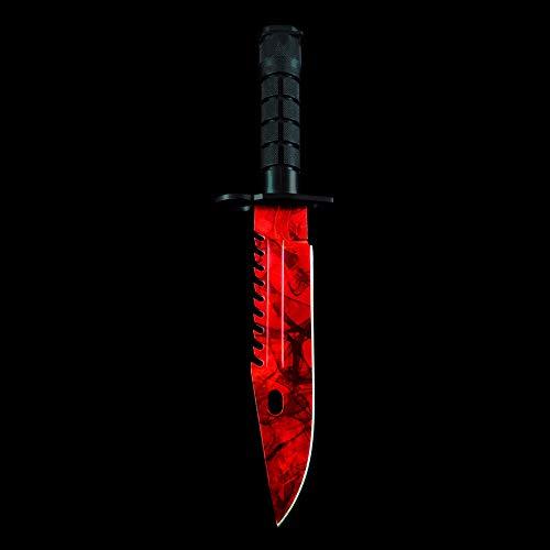 M9 Bayonet Real CSGO Knives Counter Strike Knife Skins Stainless Steel (Ruby) (Cs Go Best M9 Bayonet Skin)