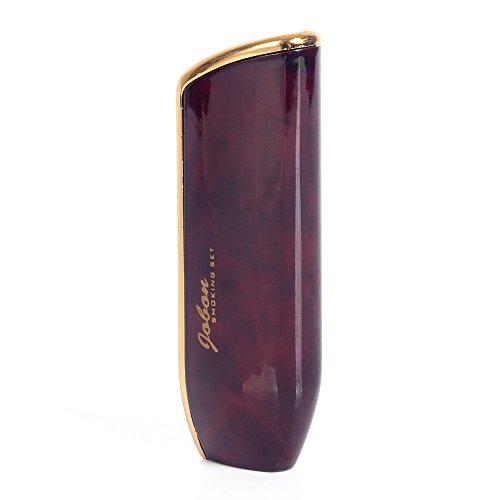 JOBON Triple Jet Torch Flame Butane Gas Cigarette Cigar Lighter with Cigar Punch