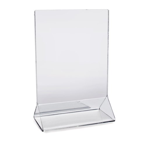 "New Star Foodservice 22940 Commercial Acrylic Table Sign Holder, 4"" x 6"" Inch, Set of 12, Clear"