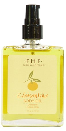 Farmhouse Fresh Clementine Body Oil 4 Oz (Farmhouse Fresh Bath Soak)