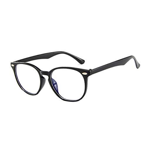 ❤️Jonerytime❤️Women Spectacle Optical Frame Glasses Clear Lens Lady Vintage Computer Anti-Radiation Eyeglasses (Black)