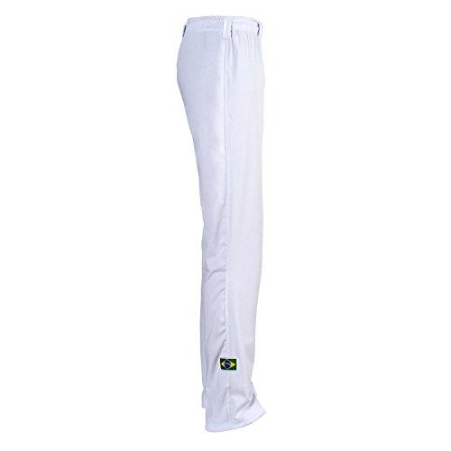 Unisex Blanco Brasil Capoeira Artes Marciales Abada Elástico Pantalones 5 Tallas