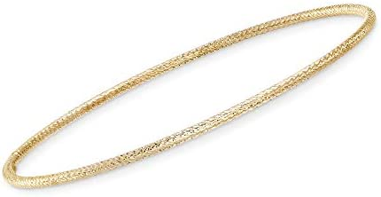 Ross-Simons Italian 14kt Yellow Gold Roped Bangle Bracelet
