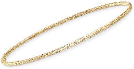 Ross-Simons Italian 14kt Yellow Gold Roped Bangle Bracelet