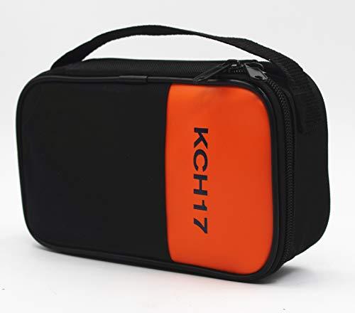 TestHelper KCH17 Soft Carrying Case Use For Handheld Multimeter,Meter,Phase Indicator,Thermometer, Calibrator,Clamp meter,Soft Bag
